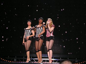 "Deeper and Deeper - Madonna and her dancers, performing a slow version of ""Deeper and Deeper"" during the Re-Invention World Tour, 2004."