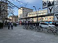 Demonstration in Krems (Donau), next to station, img 1.jpg