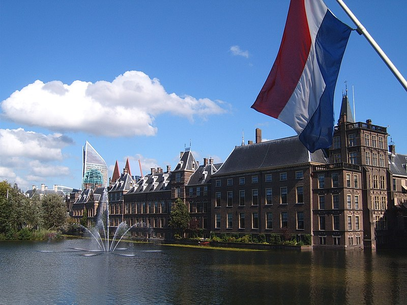 The Hague's Binnenhof from the Hofvijver.