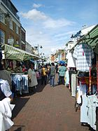 Deptford Market clothes stalls