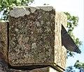 Detail of the Kilmaurs Glencairn Aisle sundial's gnomen. East Ayrshire.jpg