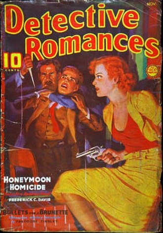 """Theodore Tinsley - Tinsley's """"Bullets for a Brunette"""" was cover-featured on the November 1936 issue of Detective Romances"""