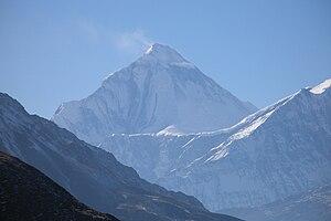 Der Dhaulagiri von Nordosten mit Ostwand, Nordostgrat und Nordwand