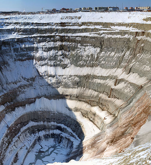 Diamond mine. Mirny in Yakutia. 02