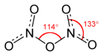 Struktur von Distickstoffpentoxid