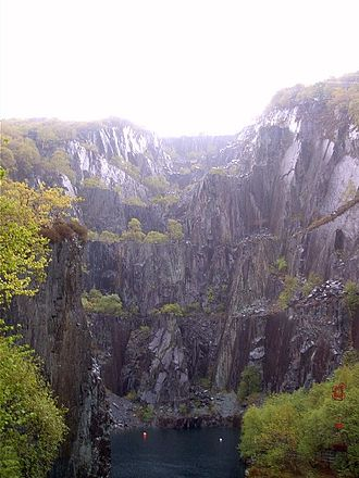Dinorwic Quarry - Vivian quarry, part of the Dinorwic Quarry