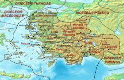 Location di diocesi dell'Asia