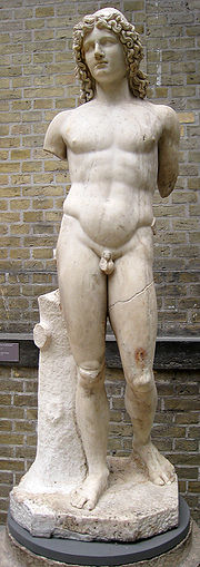 Ancient Greek marble statue of one of the Dioskouroi
