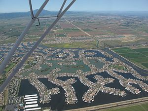 Discovery Bay, California - Aerial view of Discovery Bay
