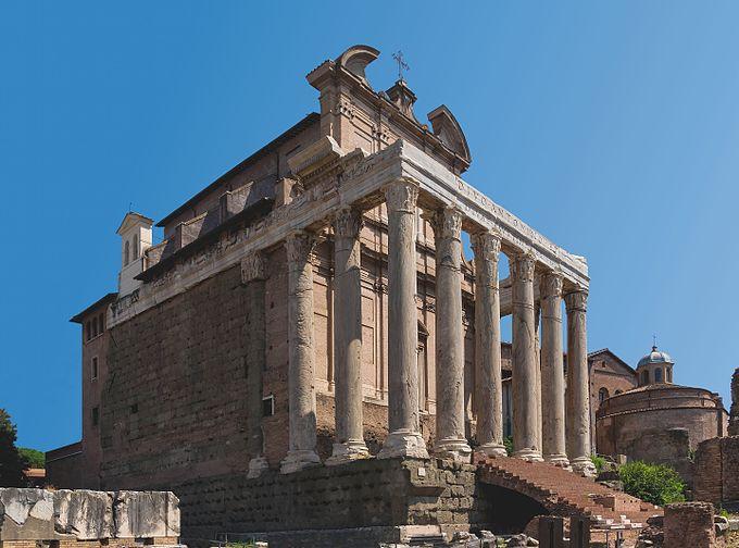 Divo Antonino Diva Faustina Temple Forum Romanum