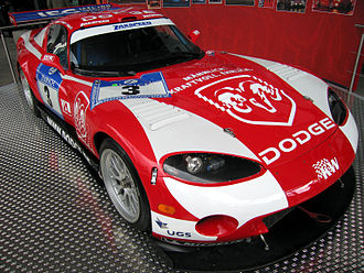 Chrysler Viper GTS-R - One of Zakspeed's Viper GTS-Rs from the 24 Hours of Nürburgring, advertising the new presence of Dodge in Europe
