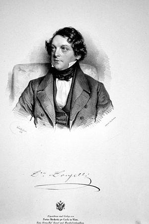 Domenico Donzelli - Domenico Donzelli, Lithograph by Josef Kriehuber, 1841