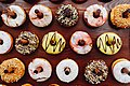 Donuts hanging on a party stand.jpg