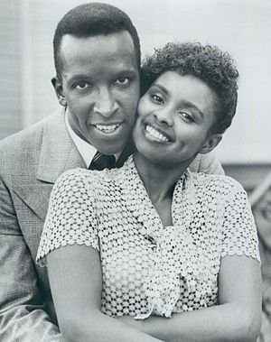 Debbi Morgan - Morgan with Dorian Harewood in The Jesse Owens Story, 1984.