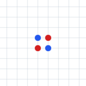 Dots (game) - Image: Dots initial cross