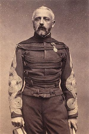 Austrian knot - French General Félix Douay wearing Austrian knots on his sleeves, c1870.