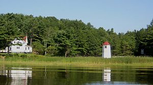 Doubling Point Range Lights - Image: Doubling Point Maine Range Lights including Keepers House