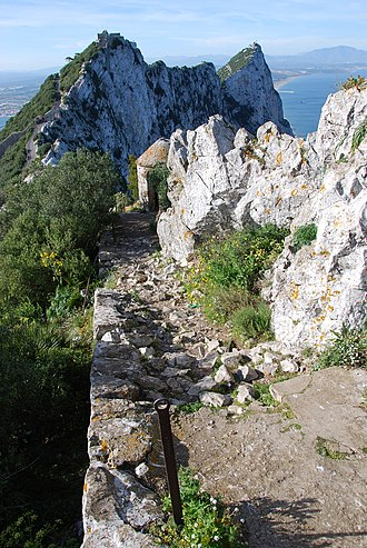 Footpaths of Gibraltar - Image: Douglas Path Gibraltar
