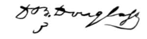 David Bates Douglass - Image: Douglass signature