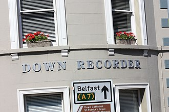 Down Recorder - Down Recorder office, Church Street, Downpatrick, August 2009