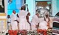 Dr. Mahanambrata Brahmachariji's idol is being worshipped by his disciples at Mahanam Angan, Kolkata.jpg