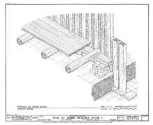 American historic carpentry wikipedia for Old house foundation types