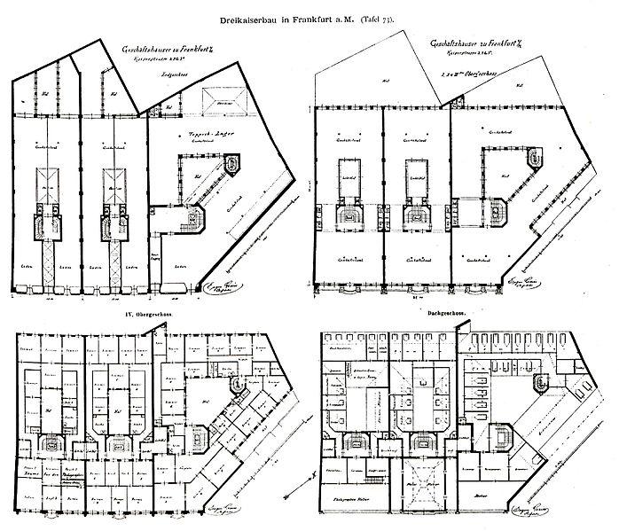 file drei kaiserbau in frankfurt am main architekt eugen greiss frankfurt tafel 73 kick. Black Bedroom Furniture Sets. Home Design Ideas