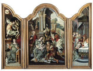 Adoration of the Kings (triptych)