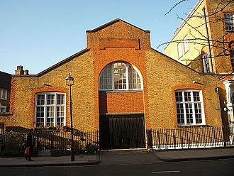 London Electrical Engineers - Former Drill Hall of the London Electrical Engineers in Regency Street, London SW1