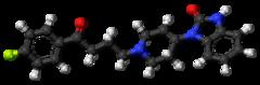 Ball-and-stick model of droperidol