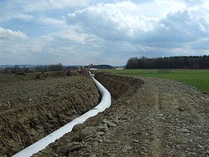 OPAL pipeline - OPAL pipeline near Weißenborn, Saxony