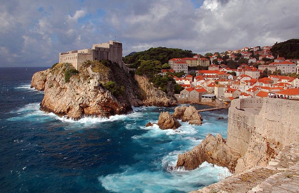 Medieval fortresses Lovrijenac & Bokar, in Dubrovnik.