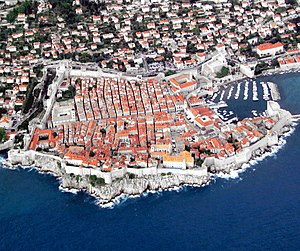 Dalmatia - The historic core of the city of Dubrovnik, in southern Dalmatia.
