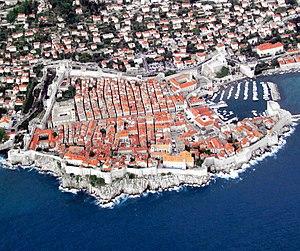 Dalmatia - The historic core of the city of Dubrovnik, in southern Dalmatia.