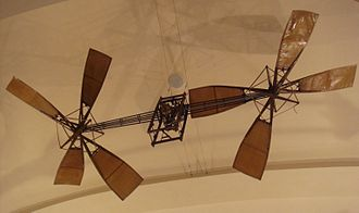 Armand Dufaux - Dufaux helicopter (1905). Musée des Arts et Métiers, Paris.