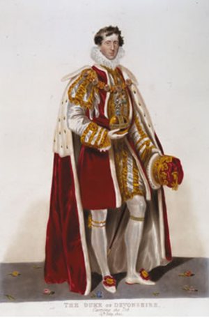 William Cavendish, 6th Duke of Devonshire - The duke carrying the Orb at the coronation of George IV in 1821
