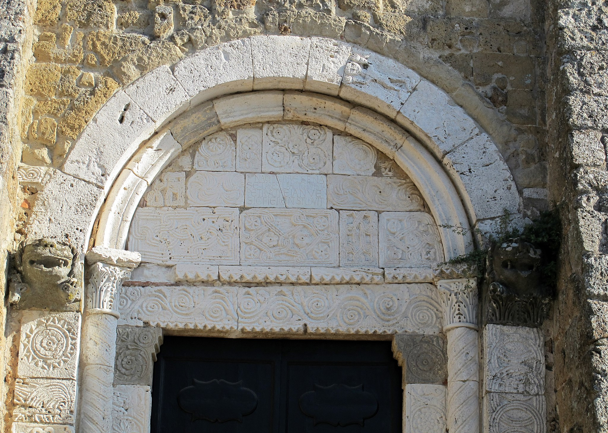 Duomo di sovana, ext., portale 02