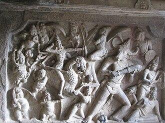Mahishasura - Image: Durga Slays Mahisasura