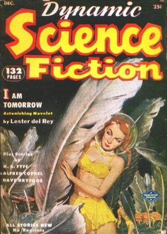 Dynamic Science Fiction - Front cover of the December 1952 issue; art by A. Leslie Ross.