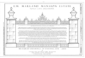 E.W. Marland Mansion Estate, 901 Monument Road, Ponca City, Kay County, OK HABS OK-64 (sheet 1 of 3).png