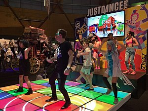 Just Dance (video game series) - A group of attendees at the EB Games Expo 2015 join in on a game of Just Dance 2016.