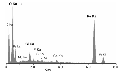 Energy dispersive x ray spectroscopy wikipedia eds spectrum of the mineral crust of the vent shrimp rimicaris exoculata most of these peaks are x rays given off as electrons return to the k electron ccuart Image collections
