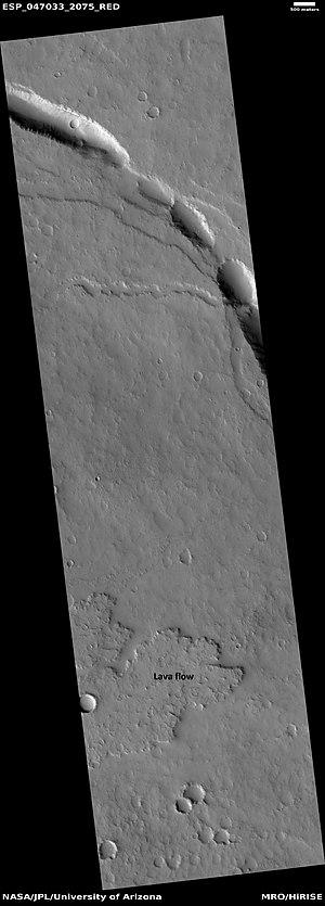 Elysium quadrangle - Image: ESP 047033 2075lava
