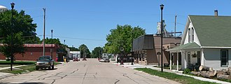 Eagle, Nebraska - Downtown Eagle: Fourth Street