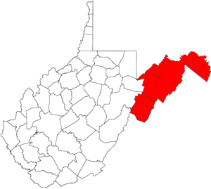 Eastern Panhandle of West Virginia - Eastern panhandle