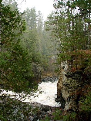 Calvin, Ontario - Eau Claire Gorge on the Amable du Fond River.