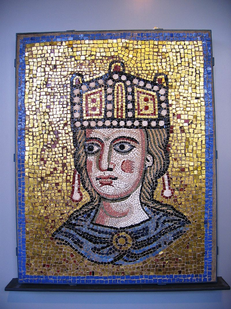 Ecclesia romerska XII sek.  AD, polykrom mosaik, från St. peter.jpg