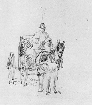 Fiacre (carriage) - Image: Edouard Manet Le fiacre
