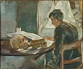 Edvard Munch - Andreas Munch Studying Anatomy.jpg