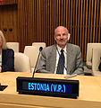 Eesti valiti 17. septembril ÜRO peakorteris New Yorgis ECOSOCi asepresidendiks. Asepresidendi ametikohustusi täidab Eesti alaline esindaja ÜRO juures suursaadik Sven Jürgenson kuni 2016. aasta juuli lõpuni. (21326794970).jpg